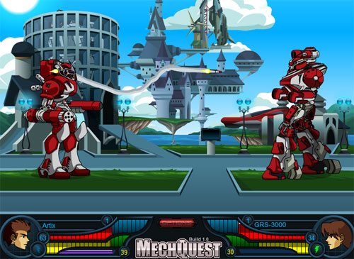Mecha Battle in Soluna City!